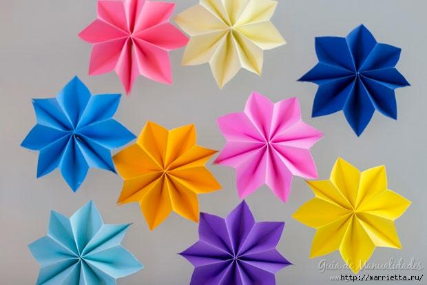 Цветная гирлянда из бумажных звезд (13) (620x413, 132Kb)