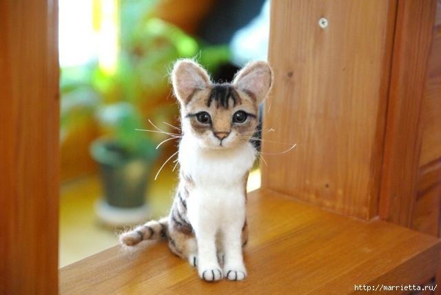 кошки - валяние из шерсти (18) (640x428, 131Kb)
