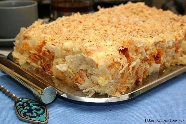 Рецепт торта из слоеного теста в домашних условиях с фото