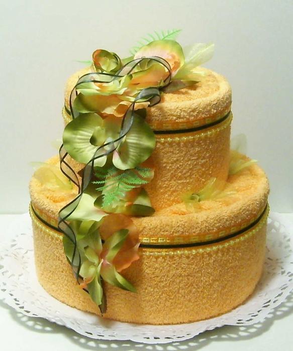 Торт из полотенцев своими руками