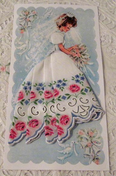 Винтажные открытки с дамами в юбках из носовых платков (5) (383x580, 185Kb)