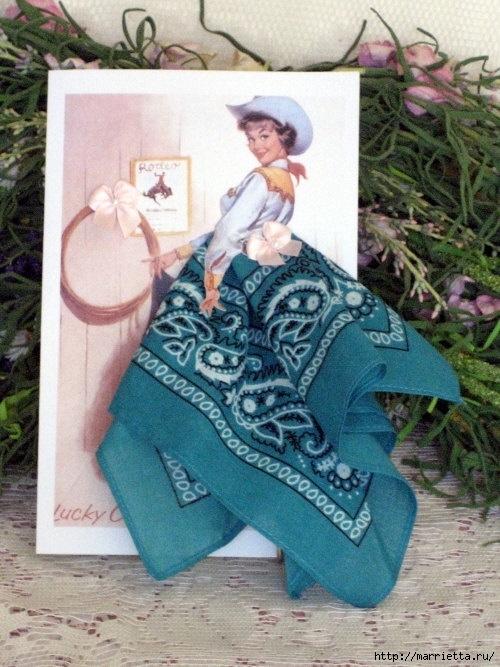 Винтажные открытки с дамами в юбках из носовых платков (9) (500x667, 224Kb)