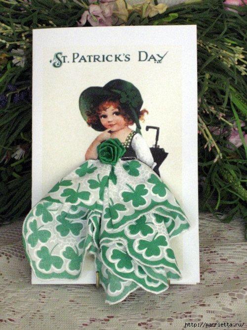 Винтажные открытки с дамами в юбках из носовых платков (13) (500x667, 217Kb)