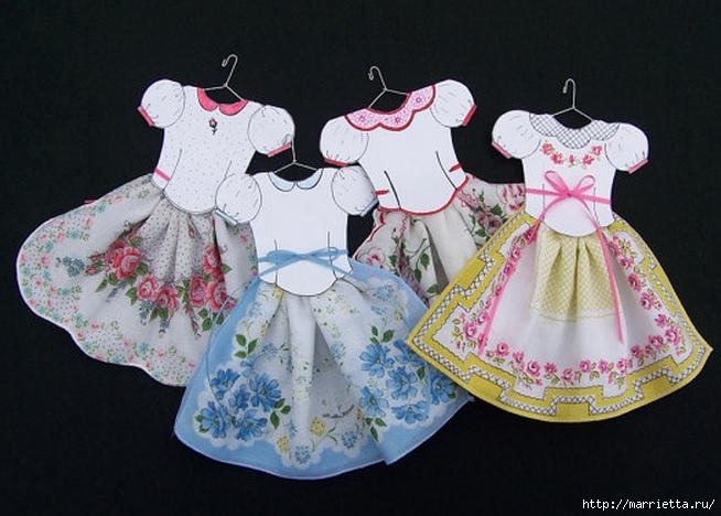 Винтажные открытки с дамами в юбках из носовых платков (19) (654x468, 192Kb)