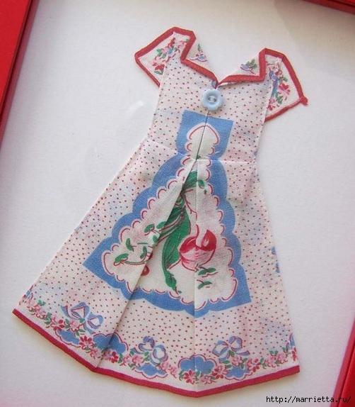 Винтажные открытки с дамами в юбках из носовых платков (21) (502x574, 188Kb)