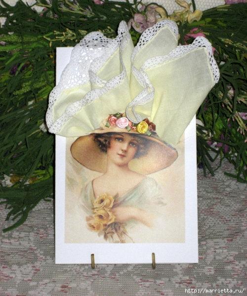 Винтажные открытки с дамами в юбках из носовых платков (31) (500x600, 206Kb)