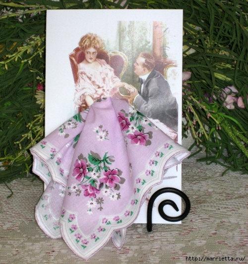 Винтажные открытки с дамами в юбках из носовых платков (41) (500x532, 204Kb)