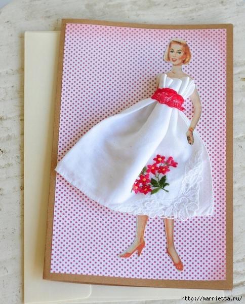 Винтажные открытки с дамами в юбках из носовых платков (52) (484x599, 220Kb)