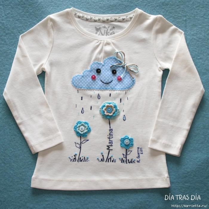 Аппликация с вышивкой на детских футболках (3) (700x699, 332Kb)
