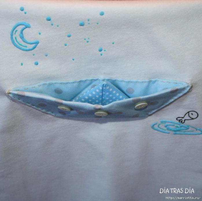 Аппликация с вышивкой на детских футболках (21) (700x697, 249Kb)