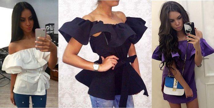 Как сшить платье с воланами на плечах своими руками