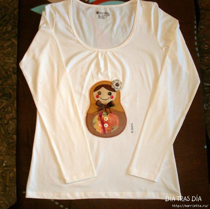 Аппликация с вышивкой на детских футболках (43) (700x698, 346Kb)