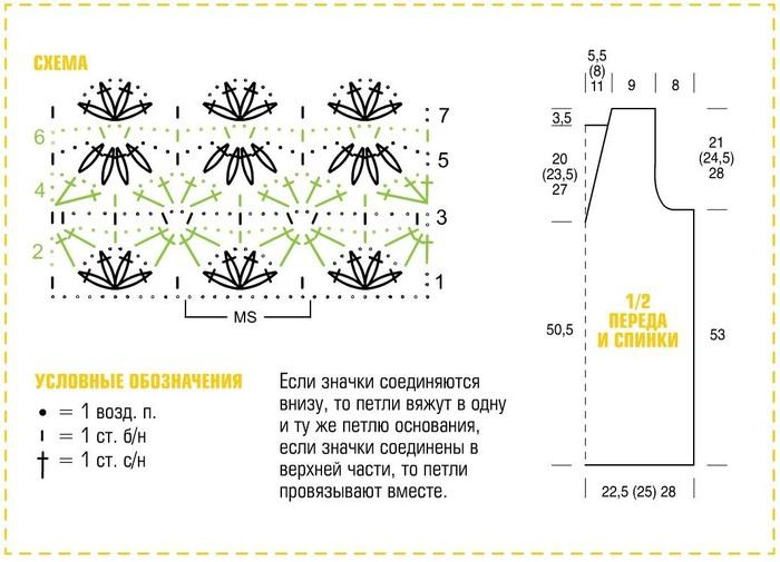 Крючком схемы и описание вязания цветочных узоров