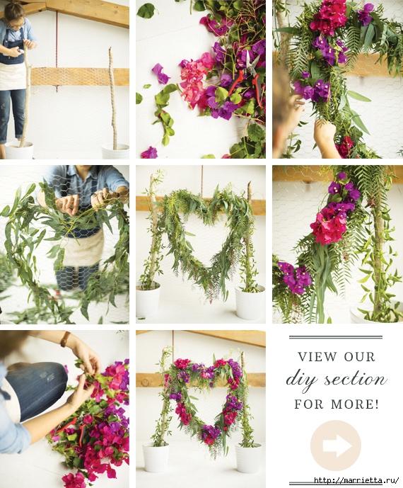 Красивая идея оформления бумажными цветами свадебного торжества (12) (570x689, 361Kb)