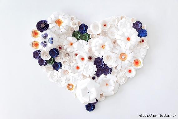 Красивая идея оформления бумажными цветами свадебного торжества (14) (570x380, 134Kb)