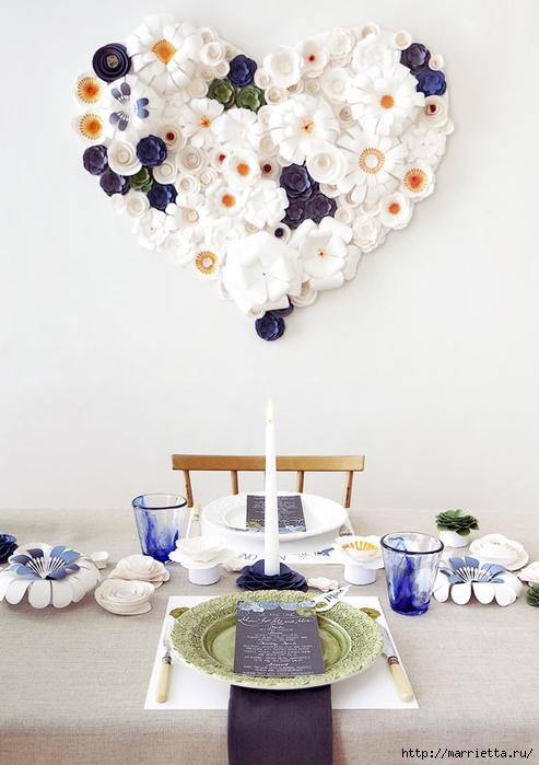 Красивая идея оформления бумажными цветами свадебного торжества (16) (493x700, 203Kb)