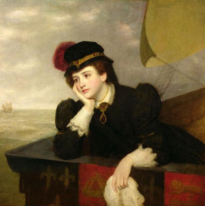 Уильям Пауэлл Фрайт Мария стюарт возвращается из Франции 1861 (695x700, 272Kb)