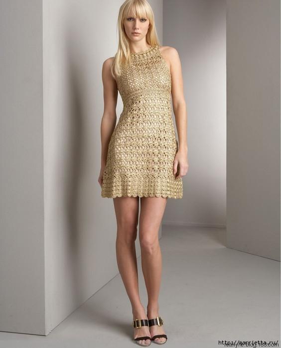 Схемы вязания платьев 69