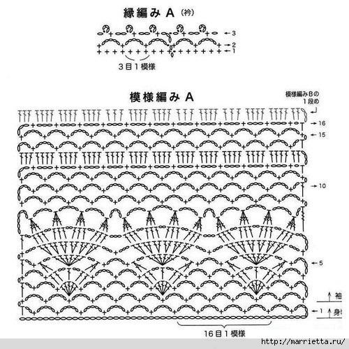 Летнее платье крючком. Схемы (7) (500x499, 196Kb)