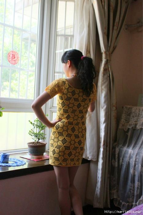 Летнее платье или длинная туника из ажурных мотивов (13) (466x700, 234Kb)
