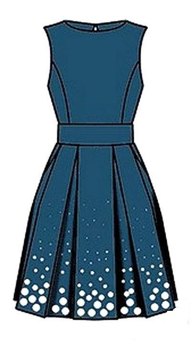 Платье с выкройкой (393x700, 163Kb)