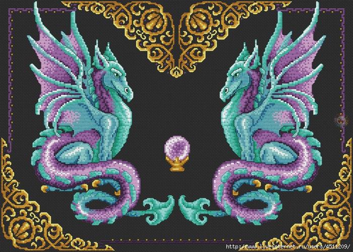 Мистические драконы (700x500, 410Kb)