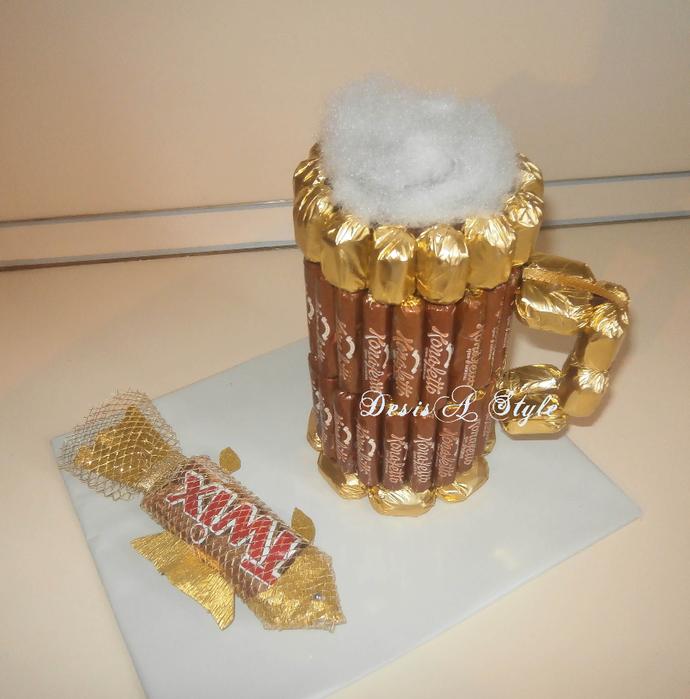 Как сделать букет из конфет для мужчин