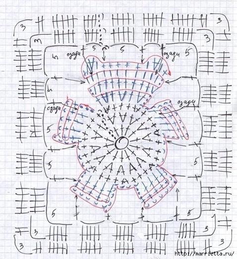 Детский плед с мишками крючком (8) (478x522, 226Kb)