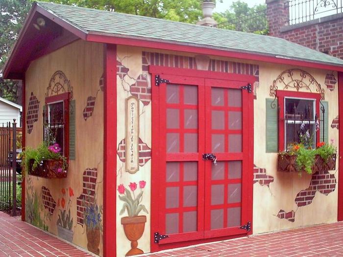 Как покрасить дом на даче своими руками 78