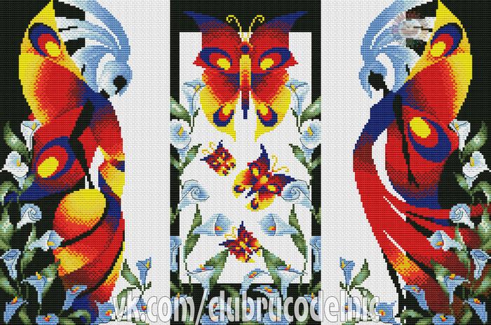 Триптих Бабочки (700x463, 571Kb)
