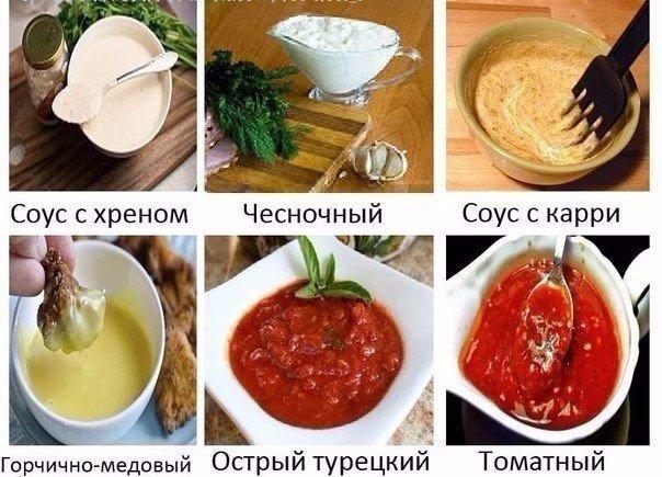 соусов к мясным блюдам. (604x435, 75Kb)