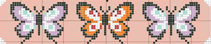 Бабочки (700x148, 111Kb)