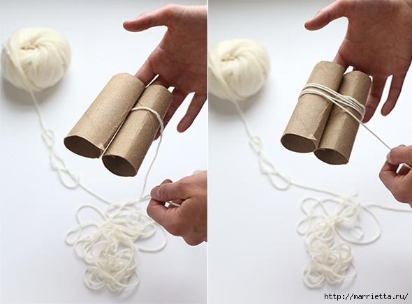 Детский пушистый мягкий коврик из ПОМПОНОВ (6) (590x436, 141Kb)