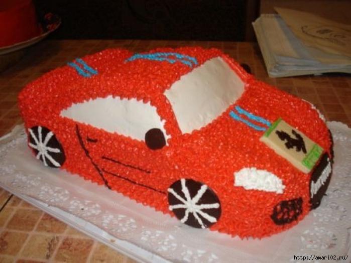 Торт в форме машины своими руками с фото