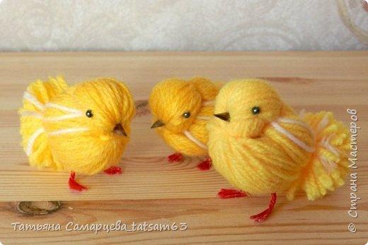 Цыпленок из ниток своими руками