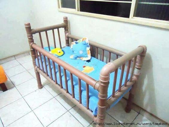 Детская кроватка из пвх труб своими руками