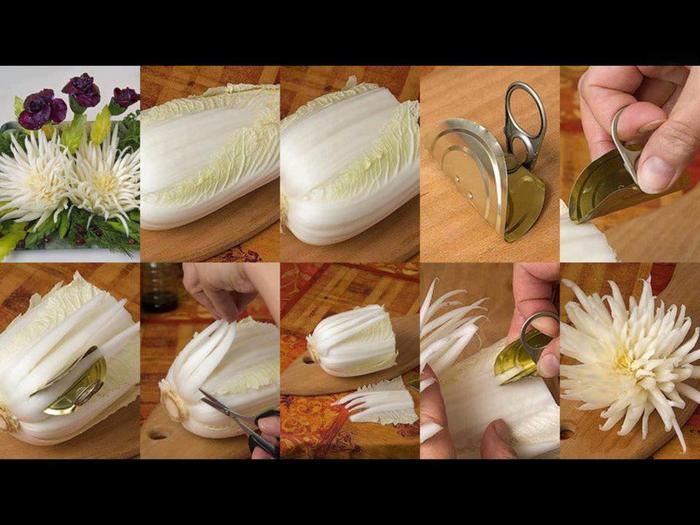 Украшения для салатов из овощей своими руками для начинающих