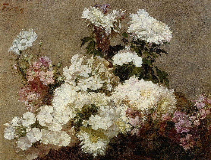 White Phlox, Summer Chrysanthemum and Larkspur (700x529, 356Kb)