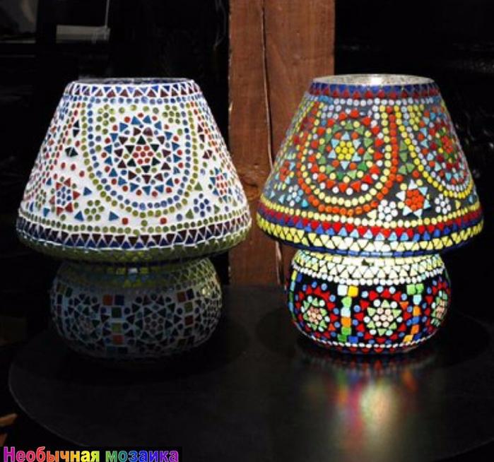 Мозаичные светильники своими руками