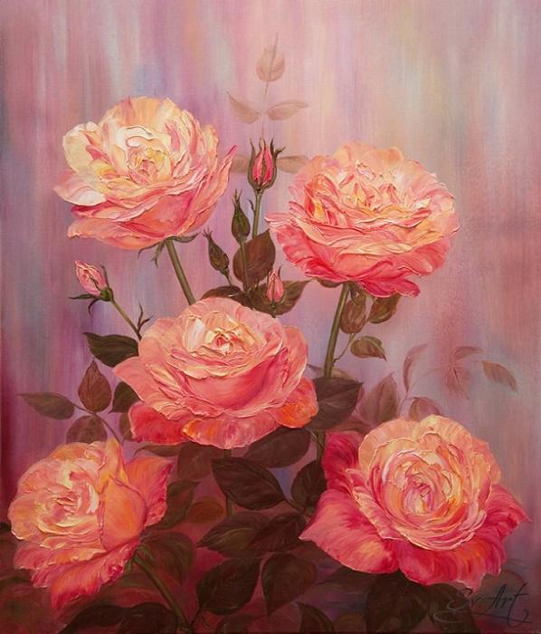 Чайные розы (598x700, 394Kb)