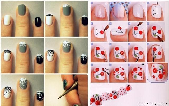 Рисунки на ногтях с фото в домашних условиях