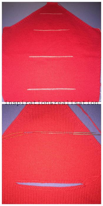 Женский пуловер спицами с прорезями на рукавах (3) (350x700, 322Kb)
