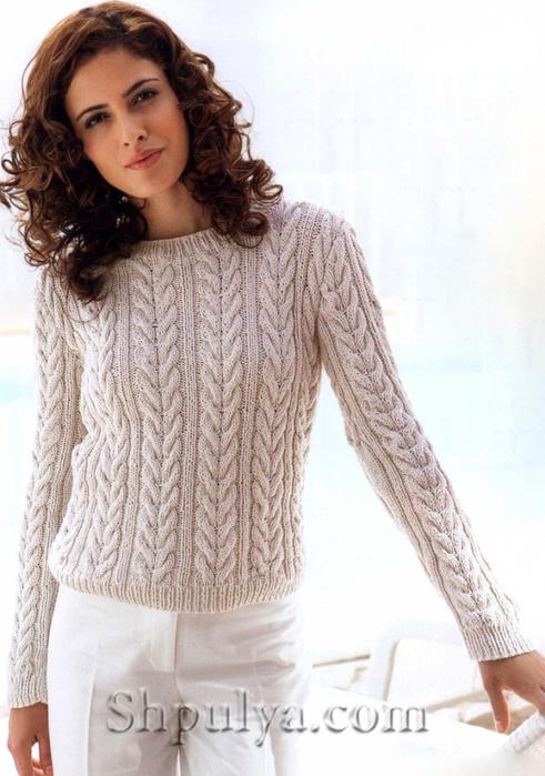 Модели вязаных пуловеров для женщин