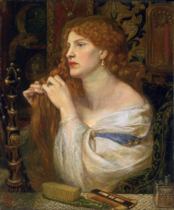 Dante Gabriel Rossetti, Aurelia, 1863-1873, London (578x700, 469Kb)