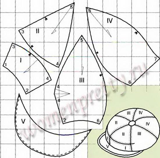 Кепка шестиклинка своими руками 6