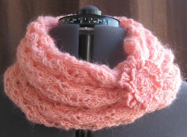 шарф труба крючком крупная вязка.
