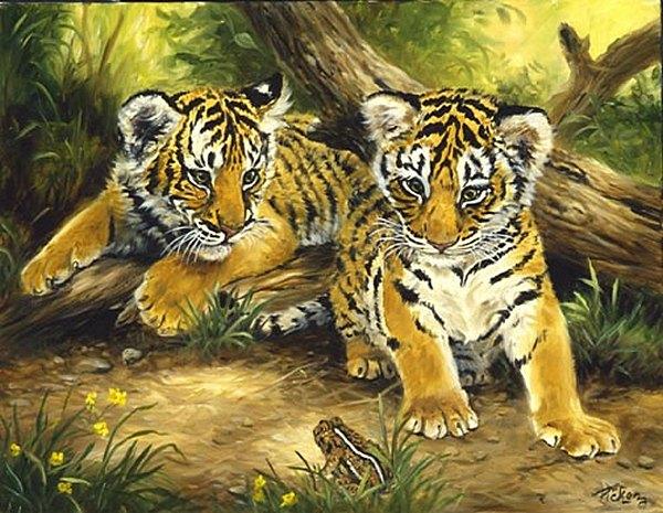 """Любознательные тигрята"""""""