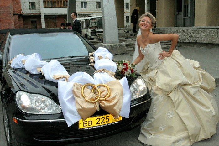 Украшение на машину для свадьбы своими руками - Самодельные