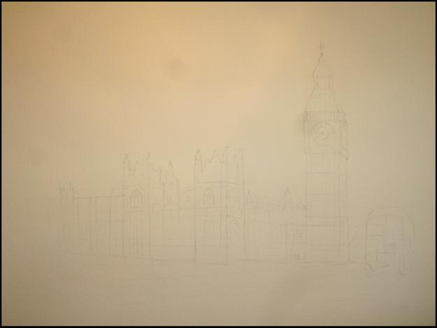 биг бен рисунок карандашом: