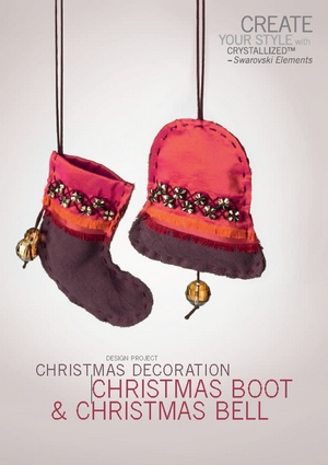 Create your style with swarovski Design project Christmas decoration Christmas boot and christmas bell (300x425, 87Kb)
